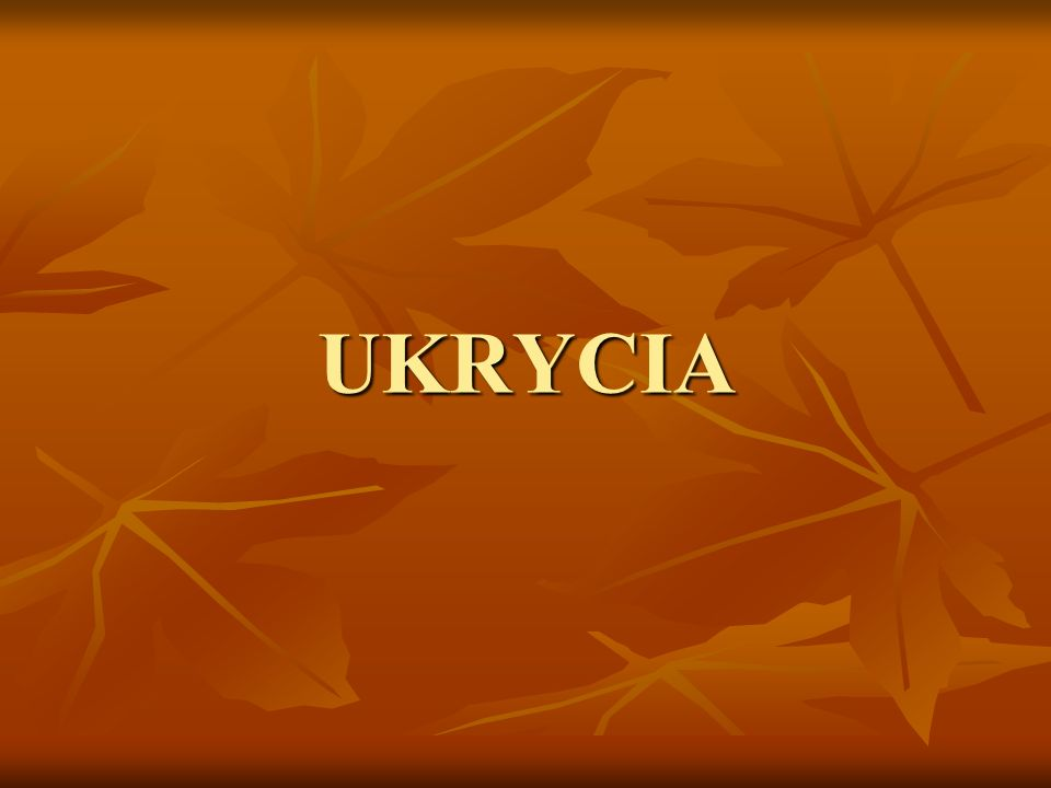UKRYCIA