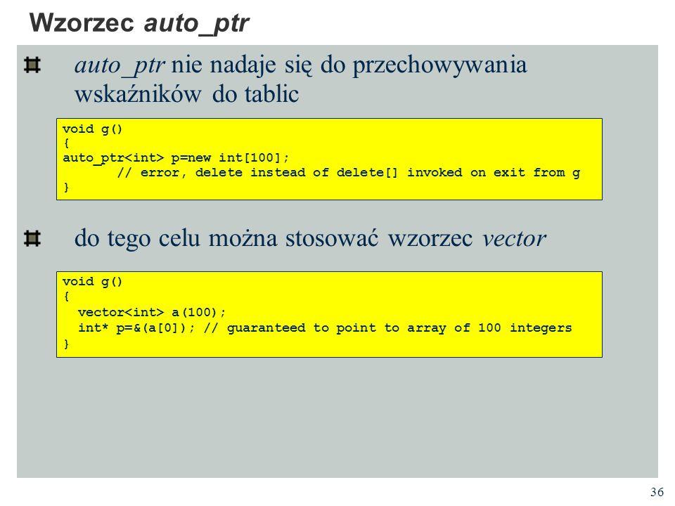 auto_ptr nie nadaje się do przechowywania wskaźników do tablic