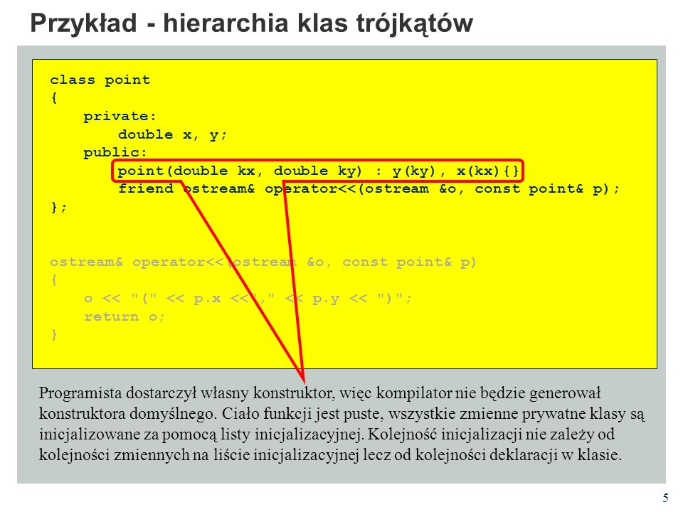 Przykład - hierarchia klas trójkątów