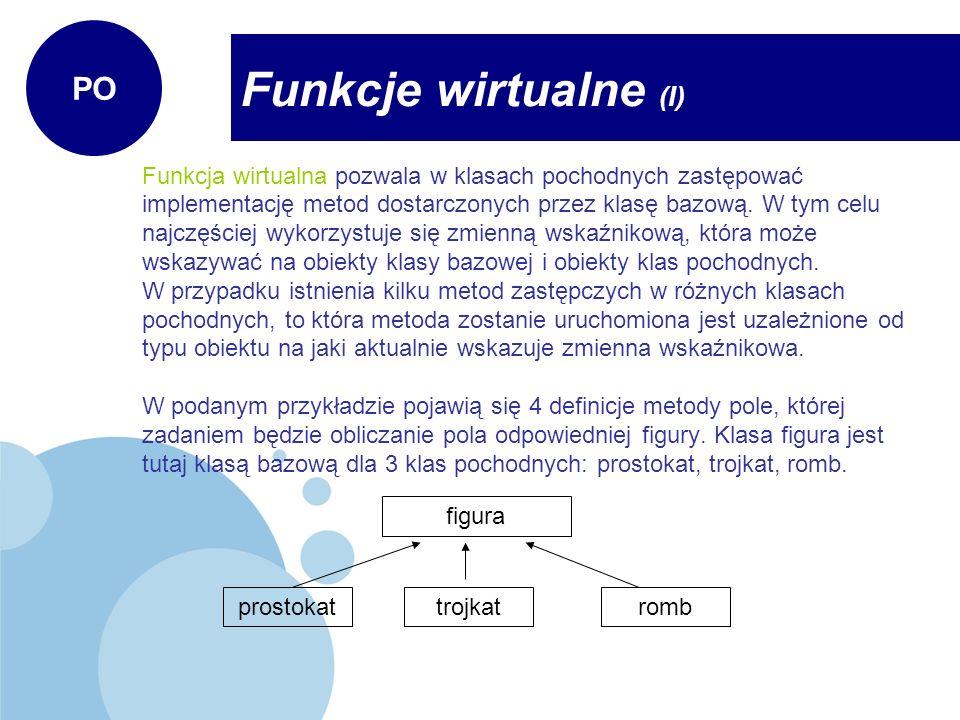 Funkcje wirtualne (I) PO
