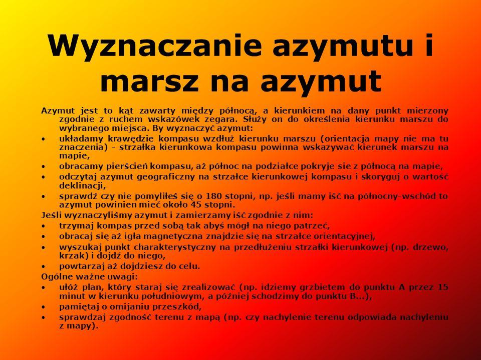 Wyznaczanie azymutu i marsz na azymut