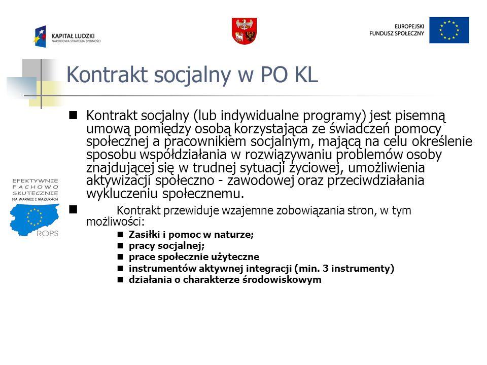 Kontrakt socjalny w PO KL