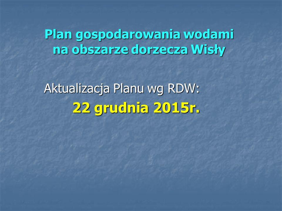Plan gospodarowania wodami na obszarze dorzecza Wisły