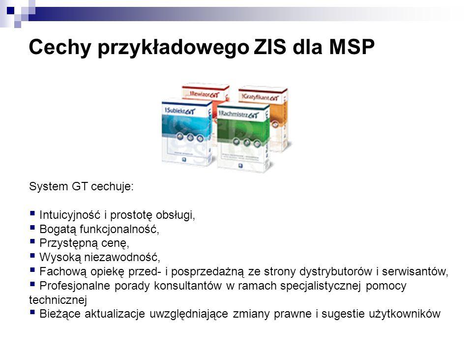 Cechy przykładowego ZIS dla MSP