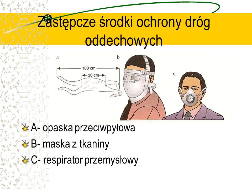 Zastępcze środki ochrony dróg oddechowych