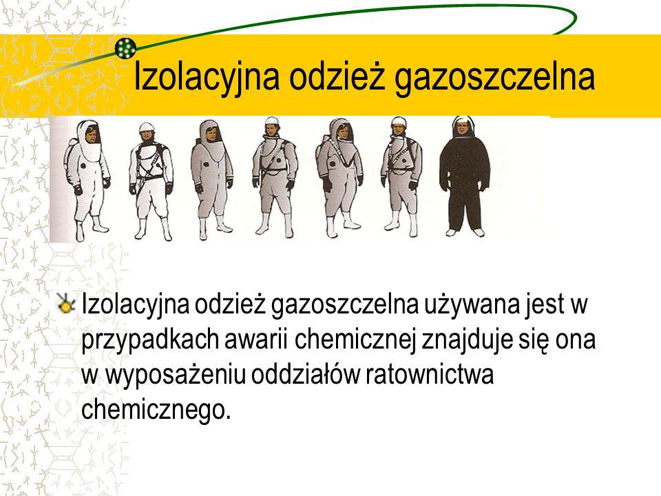 Izolacyjna odzież gazoszczelna