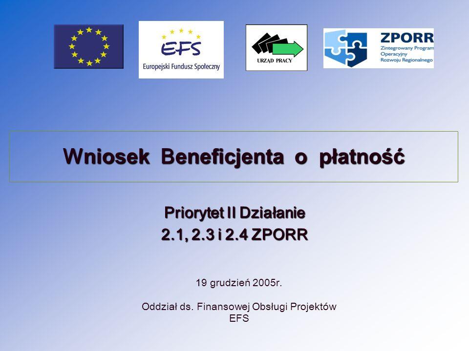 19 grudzień 2005r. Oddział ds. Finansowej Obsługi Projektów EFS