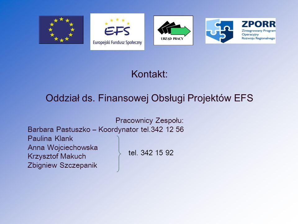 Oddział ds. Finansowej Obsługi Projektów EFS