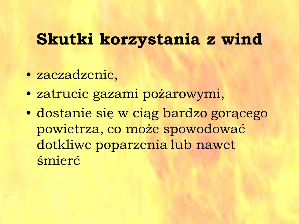 Skutki korzystania z wind