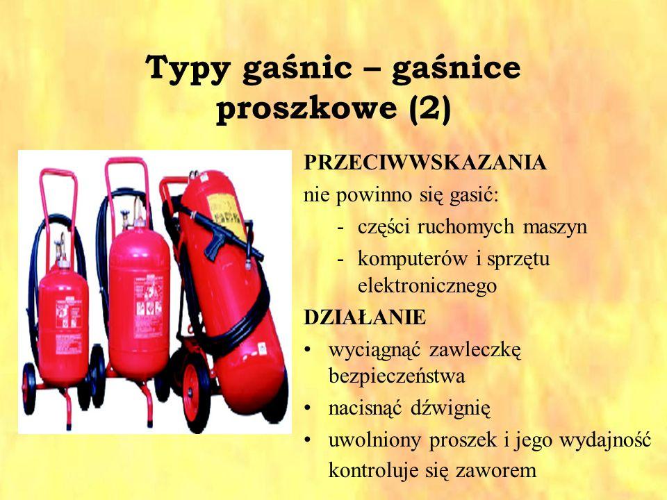 Typy gaśnic – gaśnice proszkowe (2)