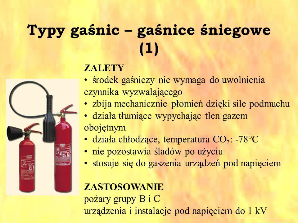Typy gaśnic – gaśnice śniegowe (1)