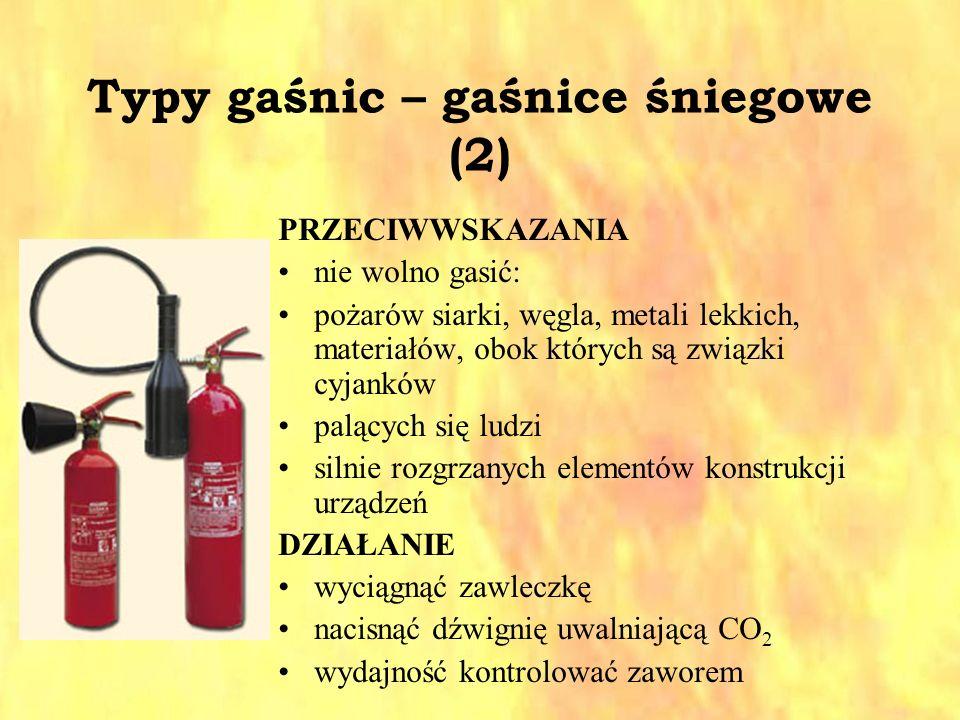 Typy gaśnic – gaśnice śniegowe (2)
