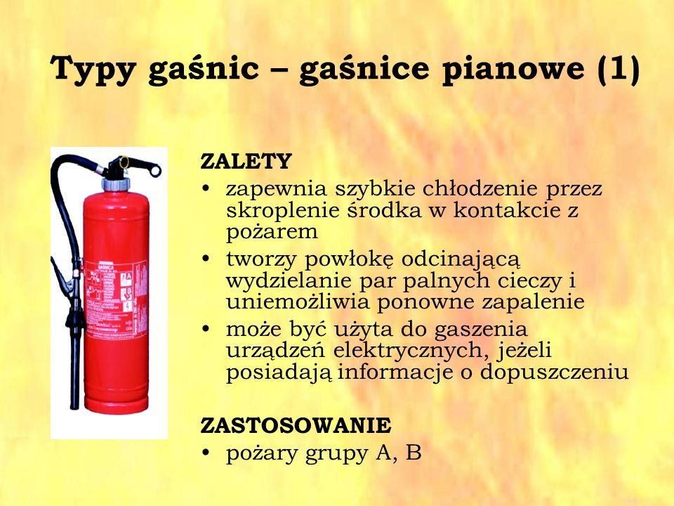Typy gaśnic – gaśnice pianowe (1)
