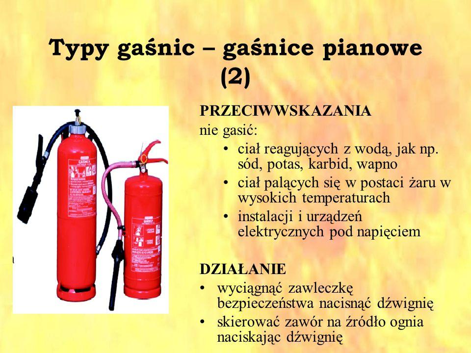 Typy gaśnic – gaśnice pianowe (2)