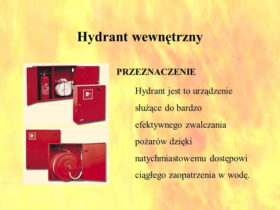 Hydrant wewnętrzny PRZEZNACZENIE