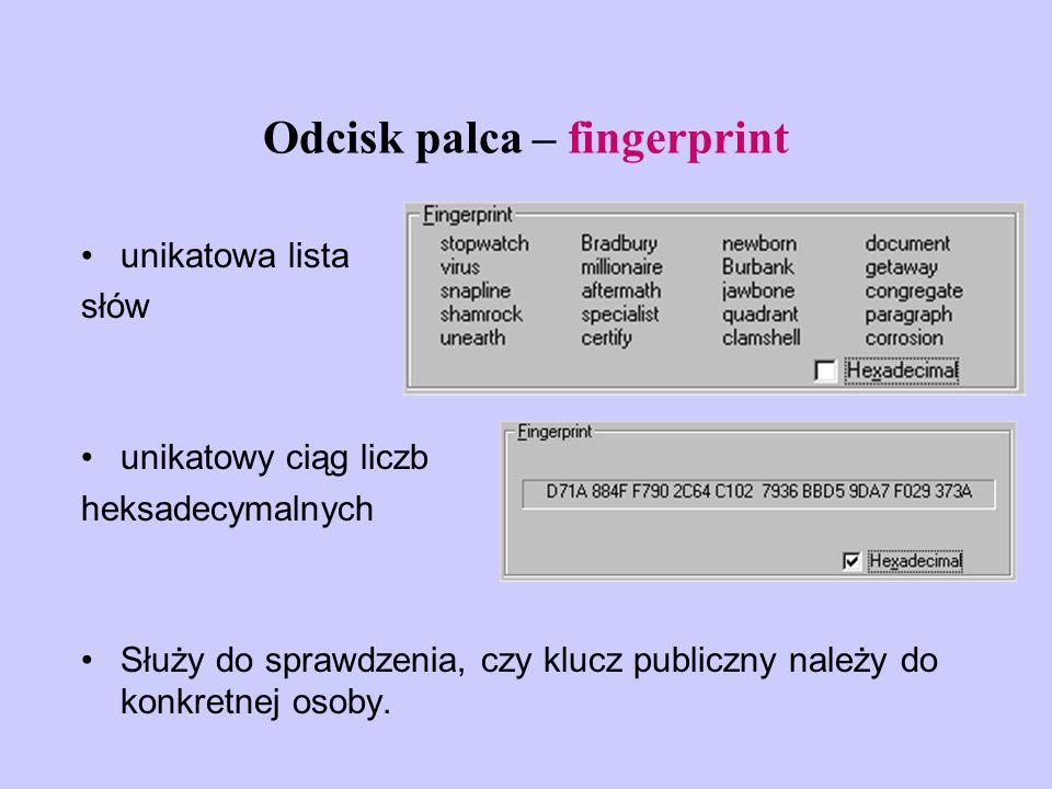 Odcisk palca – fingerprint
