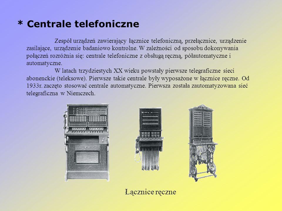 * Centrale telefoniczne