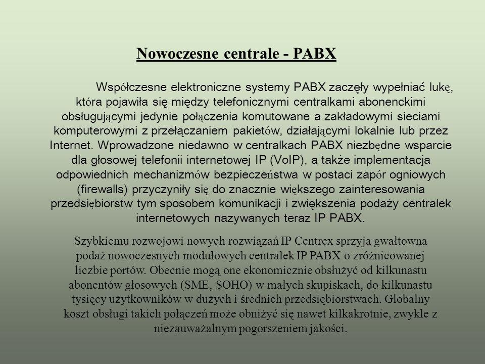 Nowoczesne centrale - PABX