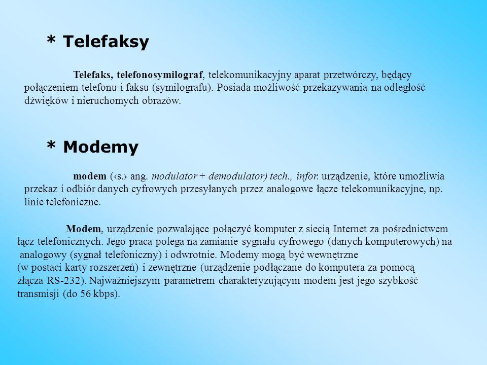 * Telefaksy