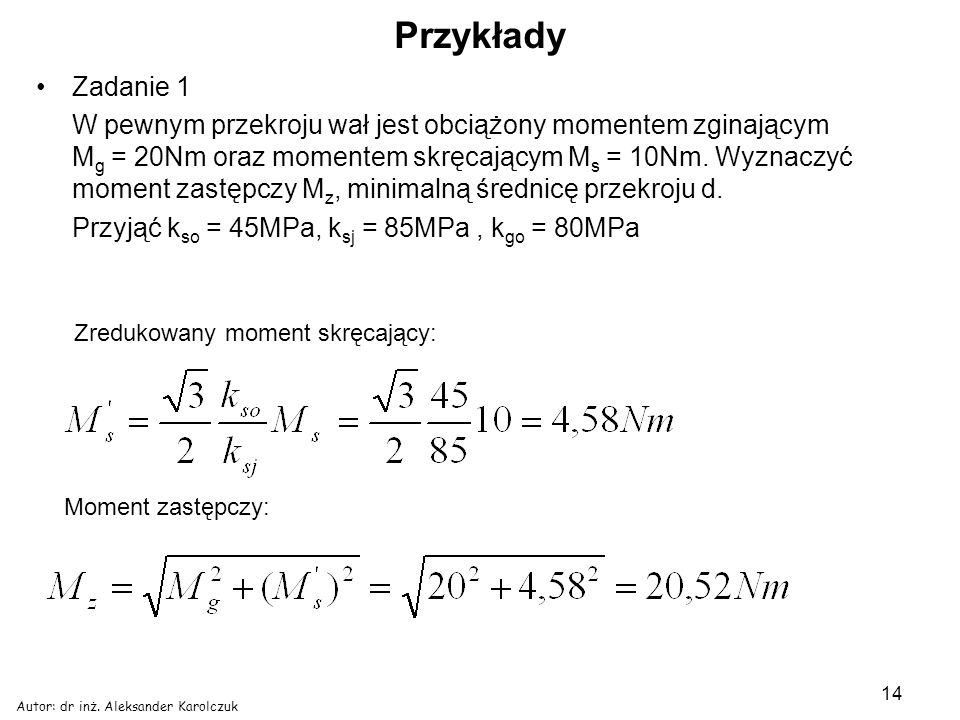 Przykłady Zadanie 1.