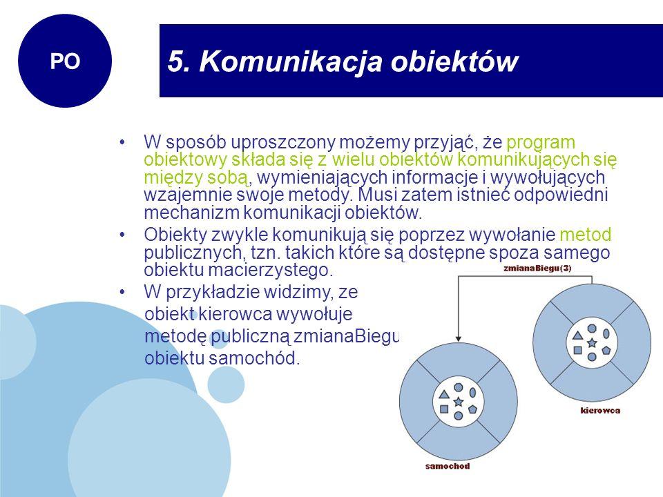 5. Komunikacja obiektów PO