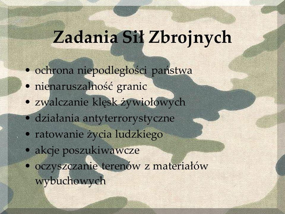 Zadania Sił Zbrojnych ochrona niepodległości państwa