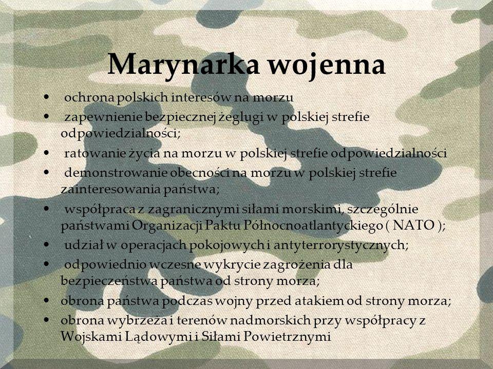Marynarka wojenna ochrona polskich interesów na morzu