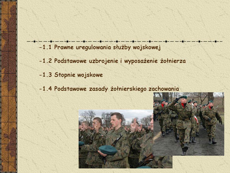 -1.1 Prawne uregulowania służby wojskowej