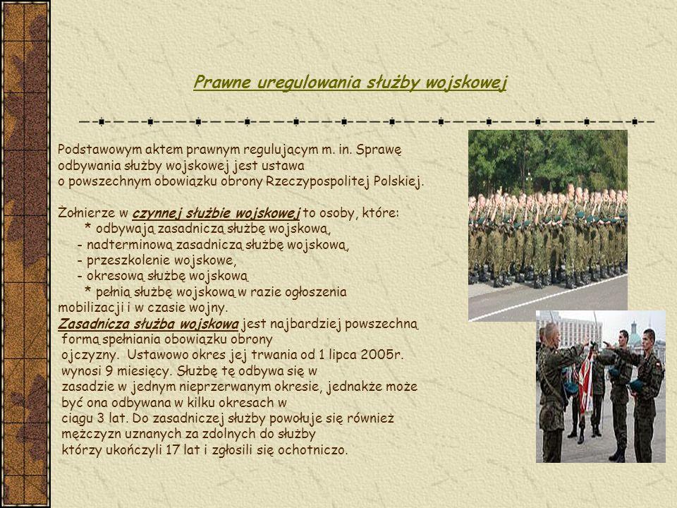 Prawne uregulowania służby wojskowej