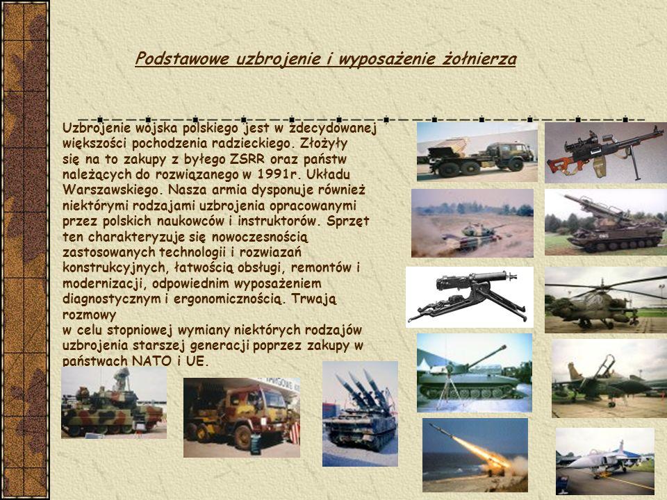 Podstawowe uzbrojenie i wyposażenie żołnierza