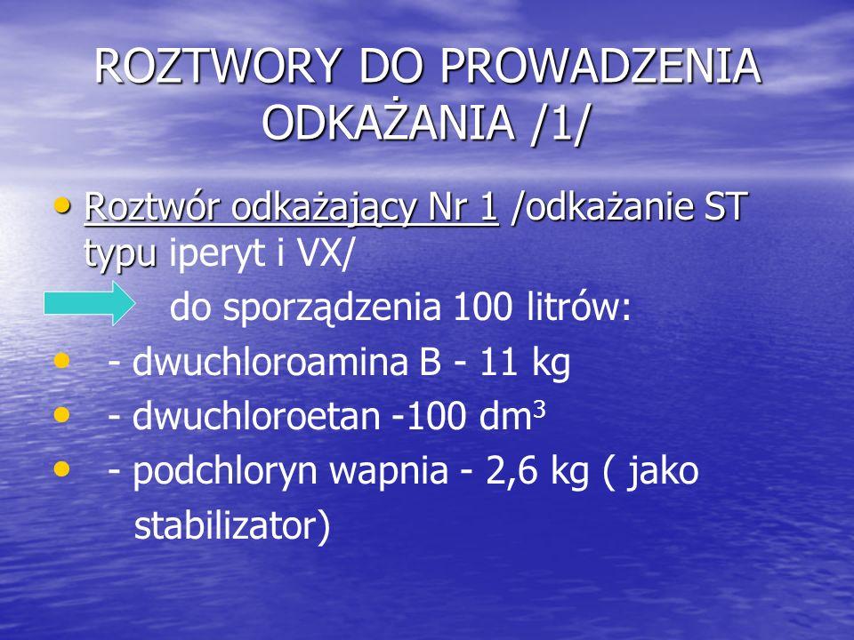 ROZTWORY DO PROWADZENIA ODKAŻANIA /1/