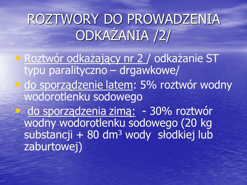 ROZTWORY DO PROWADZENIA ODKAŻANIA /2/