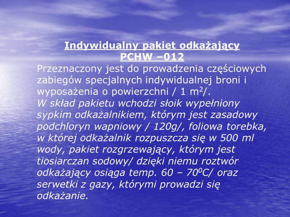 Indywidualny pakiet odkażający PCHW –012