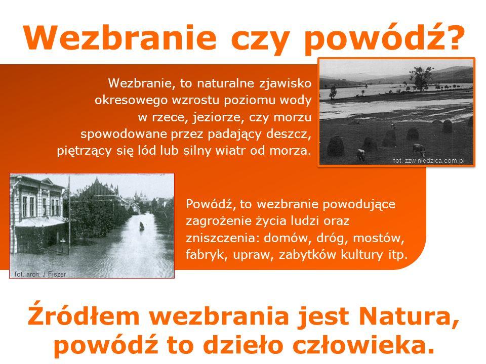 Źródłem wezbrania jest Natura, powódź to dzieło człowieka.