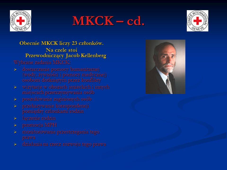 MKCK – cd. Obecnie MKCK liczy 23 członków.