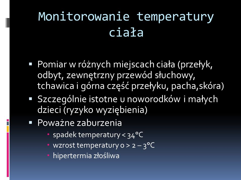 Monitorowanie temperatury ciała