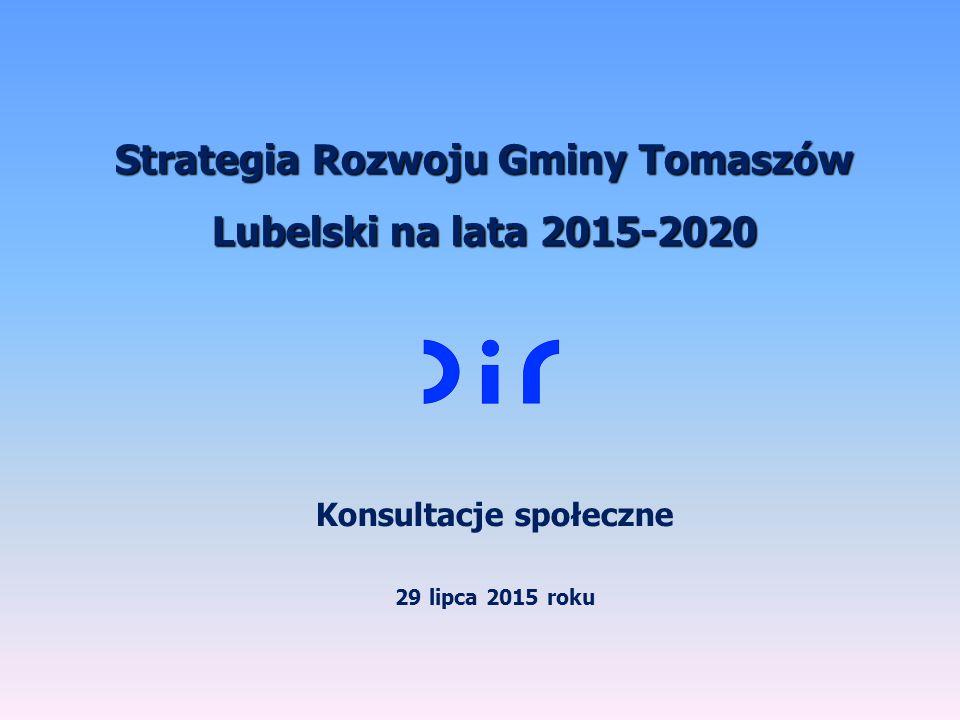 Strategia Rozwoju Gminy Tomaszów Lubelski na lata 2015-2020