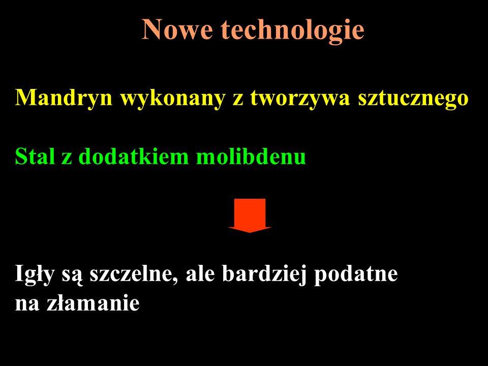 Nowe technologie Mandryn wykonany z tworzywa sztucznego