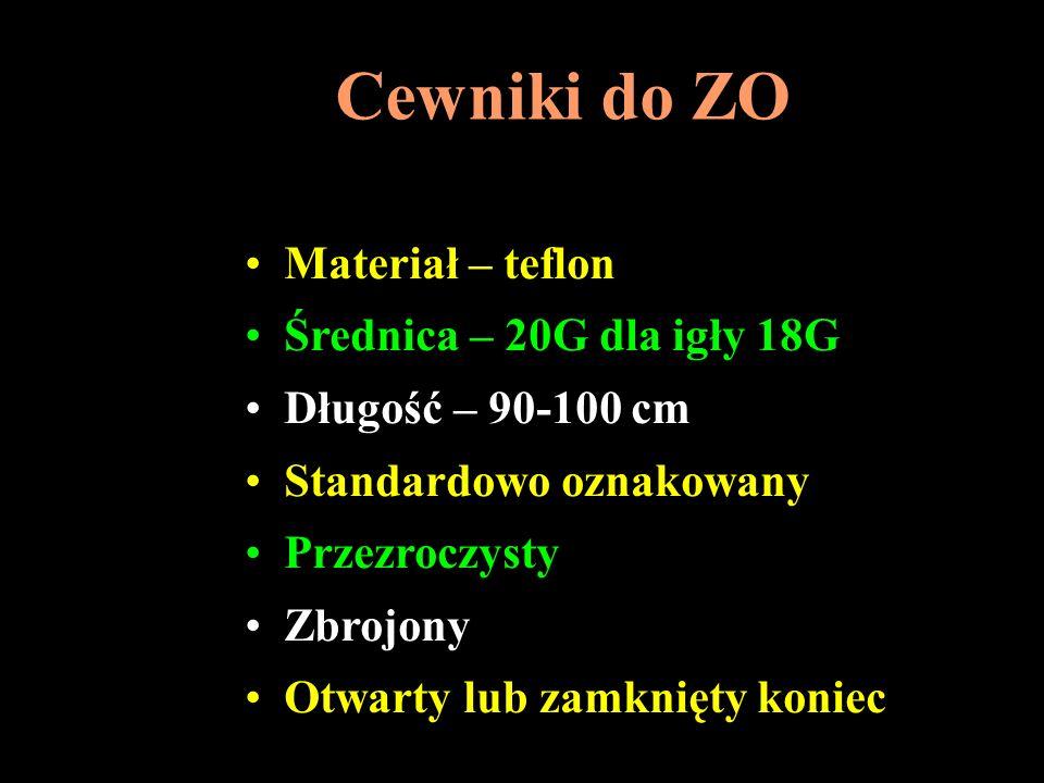 Cewniki do ZO Materiał – teflon Średnica – 20G dla igły 18G