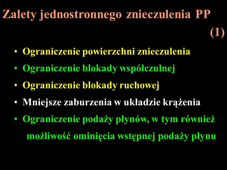 Zalety jednostronnego znieczulenia PP (1)