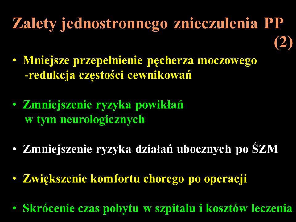 Zalety jednostronnego znieczulenia PP (2)