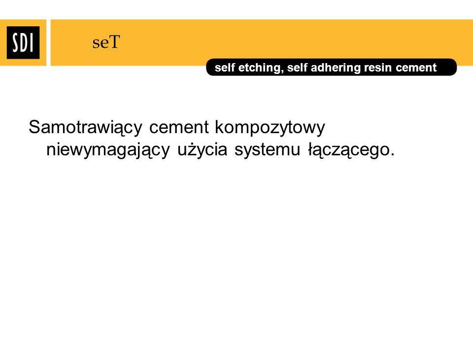 seT Samotrawiący cement kompozytowy niewymagający użycia systemu łączącego.