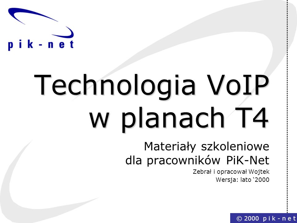 Technologia VoIP w planach T4