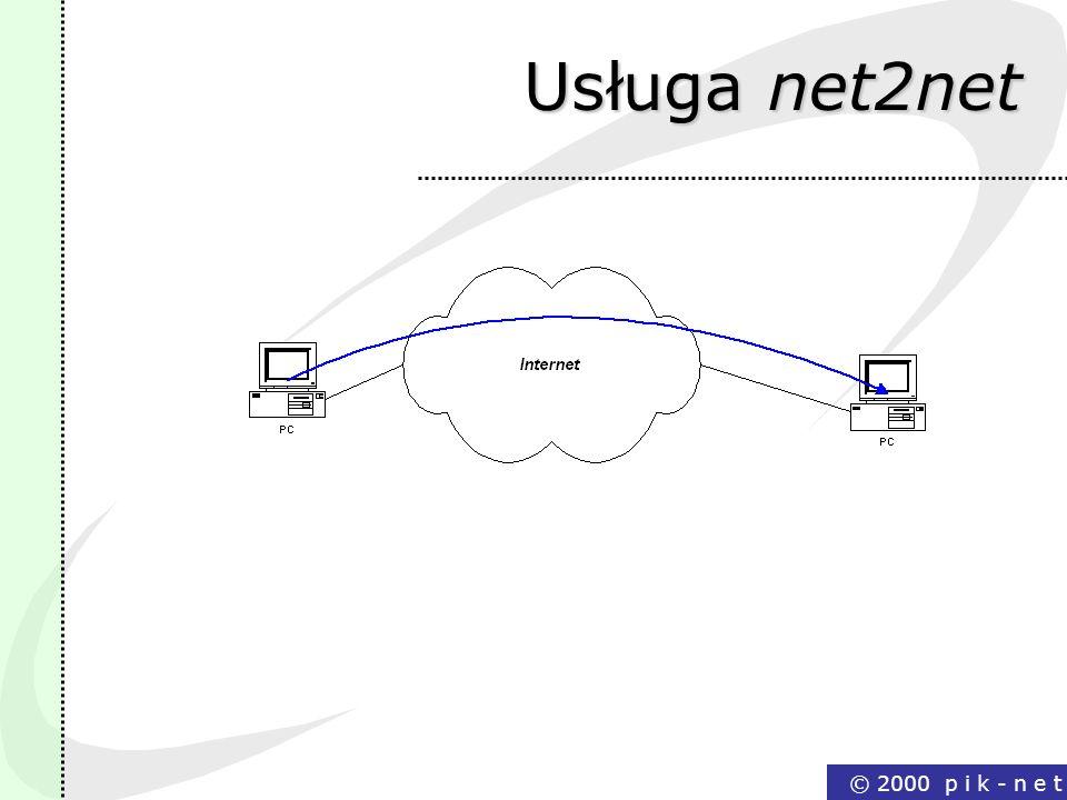 Usługa net2net © 2000 p i k - n e t