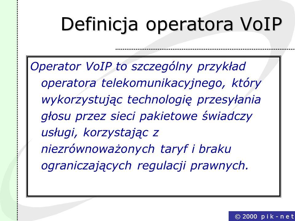 Definicja operatora VoIP