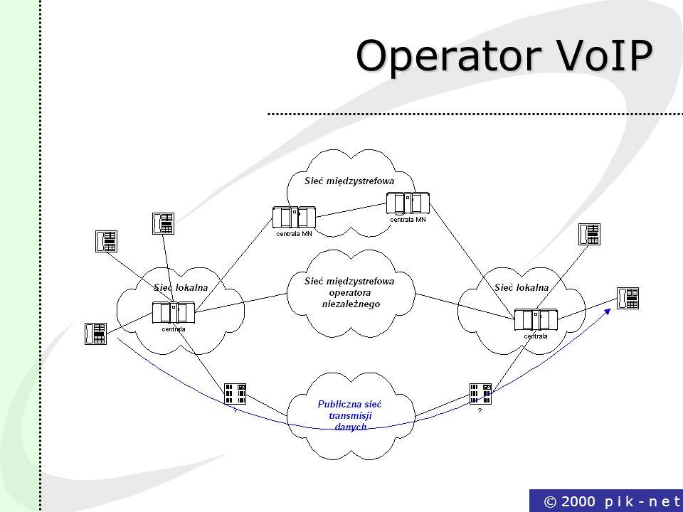 Operator VoIP © 2000 p i k - n e t