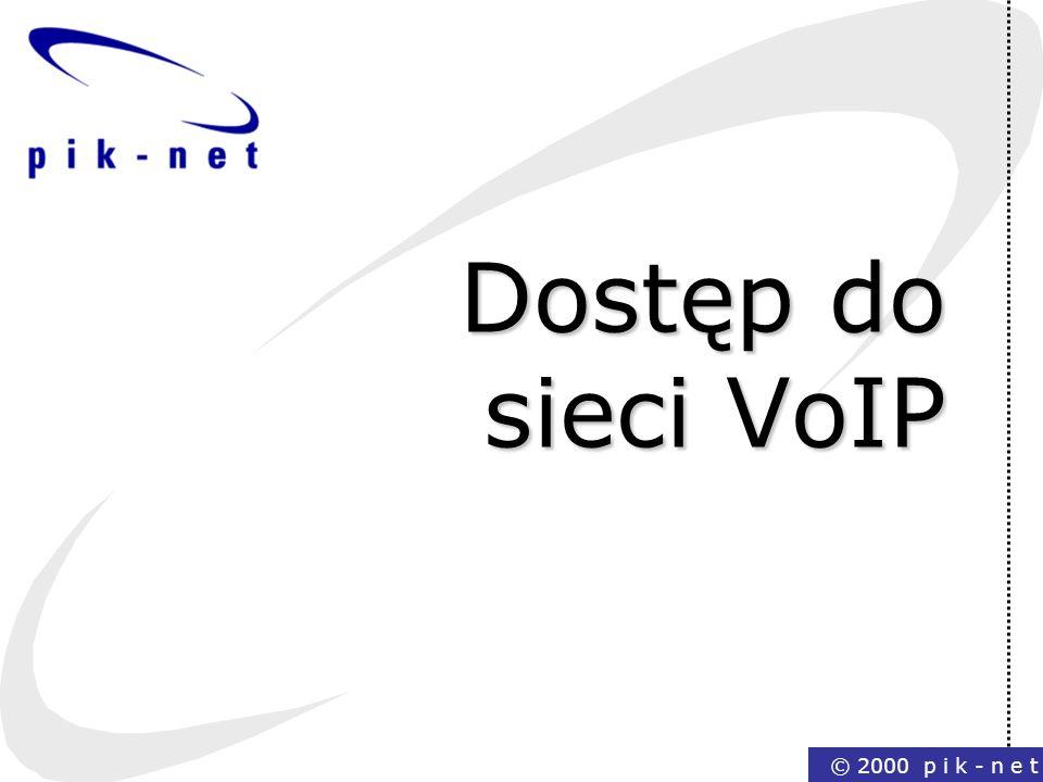 Dostęp do sieci VoIP © 2000 p i k - n e t