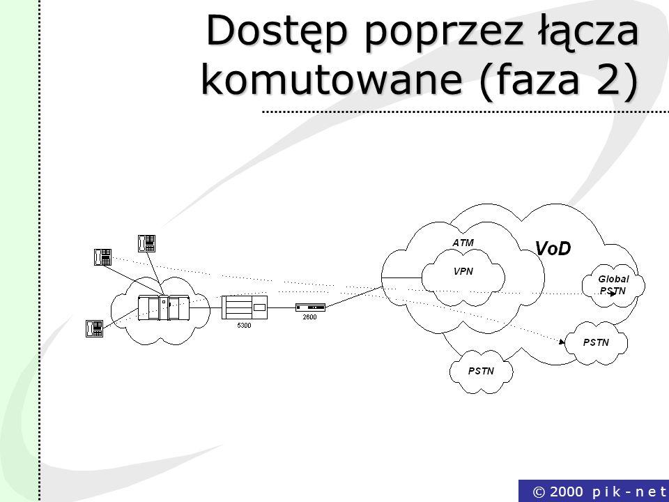Dostęp poprzez łącza komutowane (faza 2)