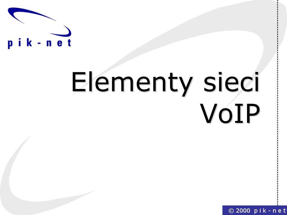 Elementy sieci VoIP © 2000 p i k - n e t