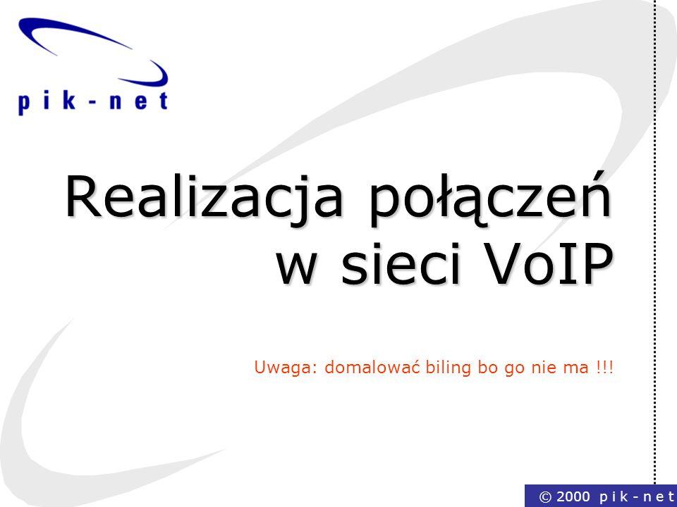Realizacja połączeń w sieci VoIP